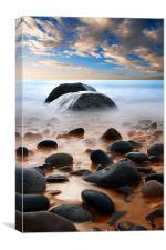 Stone Beach, Canvas Print