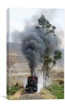 Steam in the Andes, Canvas Print