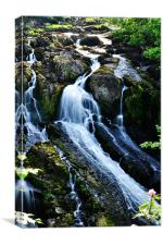Waterfall Wales, Canvas Print