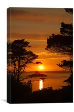 Highland Sunset, Canvas Print