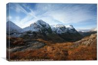 Three Sisters,Glencoe., Canvas Print