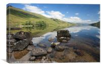 Loch Arkaig., Canvas Print