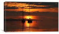 Sunset from Rhu, Arisaig., Canvas Print