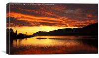 Sunset over Loch Linnhe., Canvas Print