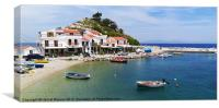 Kokkari harbour, Samos, Canvas Print