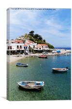 Kokkari Rowing Boats, Samos, Canvas Print