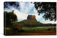 Sigiriya Rock Fortress, Sri Lanka, Canvas Print