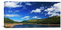 Clouds over Ladybower Reservoir, Canvas Print