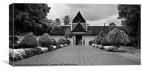 Temple, Vientiane, Laos., Canvas Print