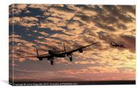 """Pro libertate"" (106 Squadron RAF), Canvas Print"