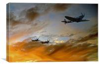 Squadron Scramble, Canvas Print