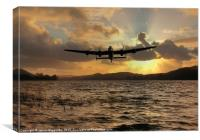 Lancaster and the Lake, Canvas Print