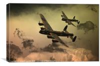 Lancaster Fire In The Sky, Canvas Print