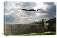 The Dam Busters over The Derwent, Canvas Print