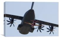 A400M and Red 1, Canvas Print