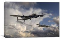 Lancaster and Mosquito Legends, Canvas Print