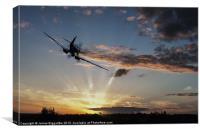 Spitfire Sunset Guardian, Canvas Print