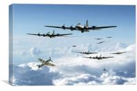 B17 Fortress Europe, Canvas Print