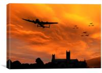 Lancaster Lincoln Sunset, Canvas Print