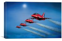 Red Arrows 4 Ship, Canvas Print