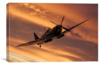Spitfire Sunset Pass, Canvas Print