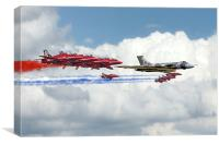 Reds Arrows with XH558, Canvas Print
