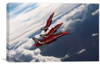 Red Arrows Trio, Canvas Print