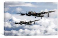 Flying Lancasters, Canvas Print