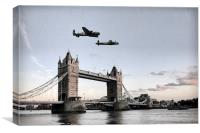 Lancs Over London, Canvas Print