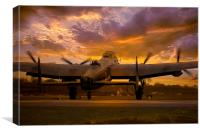 Sunset Sortie, Canvas Print