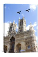 Bombers over the Cathedral, Canvas Print