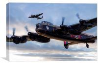 Avro Lancasters , Canvas Print