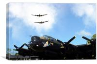 3 Lancs at East Kirkby , Canvas Print