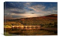 Lancs at ladybower , Canvas Print