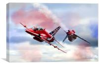 Red Arrows Pass , Canvas Print