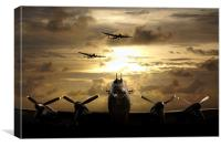 Golden Lancasters , Canvas Print