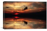 Sea King Sunset , Canvas Print