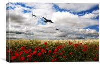 Battle Of Britain Memorial Tribute , Canvas Print