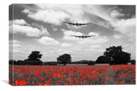 Two Lancasters Poppy Pass - Selective, Canvas Print