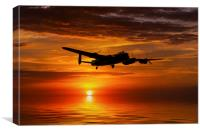 Avro Lancaster Landfall , Canvas Print