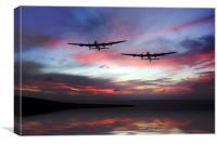 Lancasters Return Home , Canvas Print