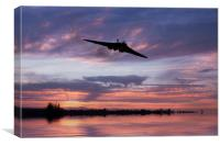 Vulcan Over The Water , Canvas Print