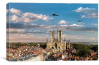 Bombers Over Lincoln , Canvas Print