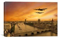Lancs Visit London , Canvas Print