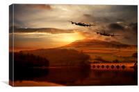 Lancasters Tour The Derwent, Canvas Print