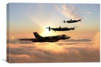 Bombers Unite, Canvas Print