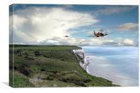Spitfires Over Dover , Canvas Print