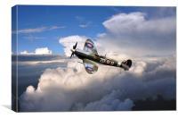 Spitfire Air to Air, Canvas Print