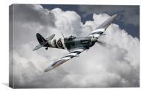 Spitfire Mk Vb AB910 , Canvas Print
