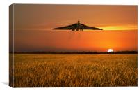Vulcan Farewell Fly Past, Canvas Print